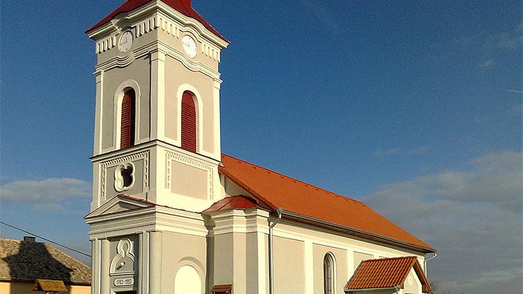 Strecha kostola - oprava