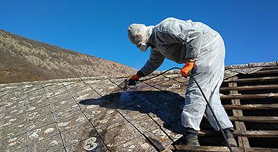 Likvidácia azbestu - azbestovej strechy